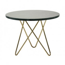 Silver oval center table
